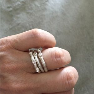 Stackable parklane rings